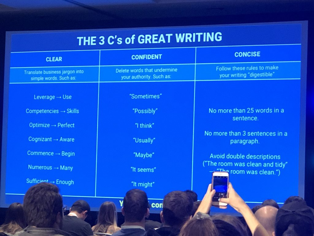 3 C's of great writing