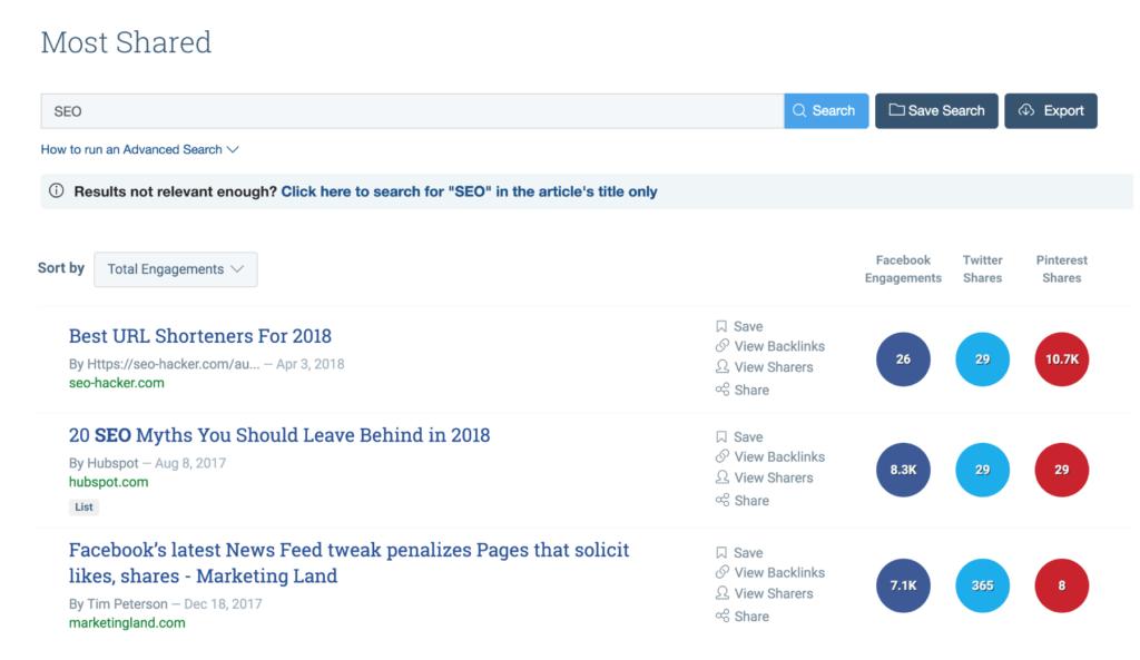 BuzzSumo, Content curation