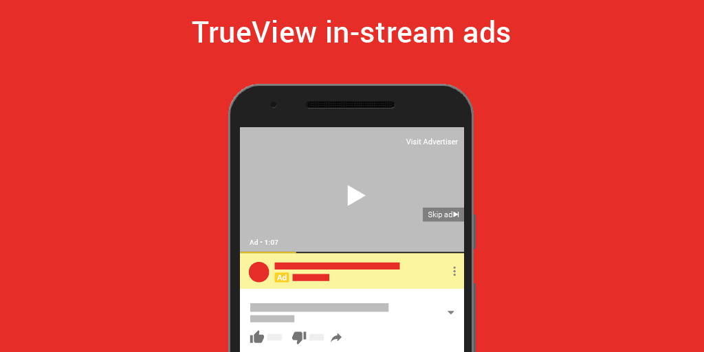 YouTube Trueview In-stream Ad