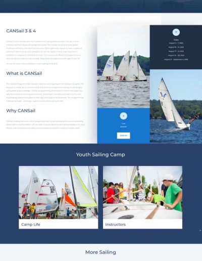 Barrie Yacht Club - CanSail Page - Digital Giants - Web Design Portfolio