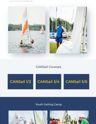 Barrie Yacht Club - Youth Page - Digital Giants Web Design Portfolio