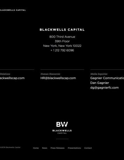 Blackwells capital home page - web design portfolio