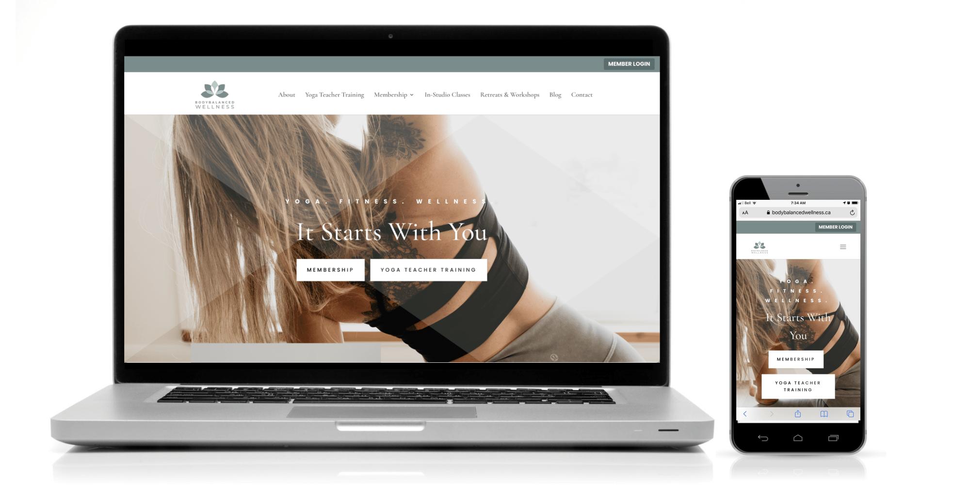 BodyBalanced Wellness Home page- Digital Giants - Web Design Portfolio