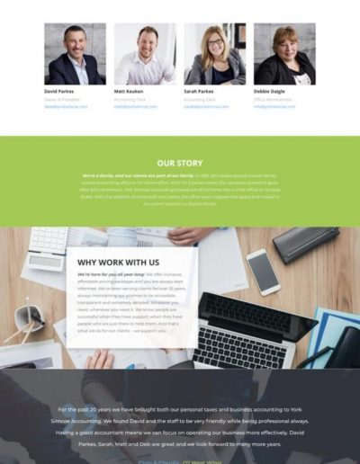 York Simcoe Accounting team page - Web Design Portfolio Image